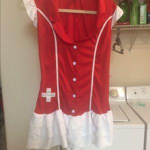 Nurse/Candy Striper Costume New w/o Tags +Bonus